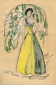 Grandma Phyllis Fashion Drawing