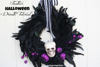 Feathers and skulls and pops of purple!