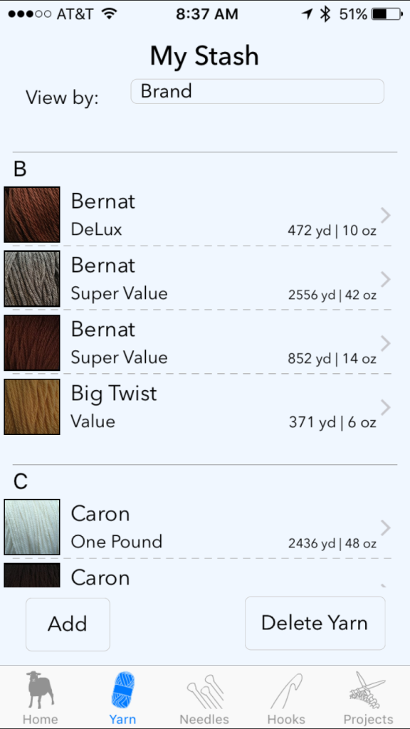Yarn Stash Apps | Craft Hackers