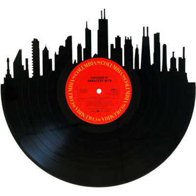The Chicago skyline on Chicago's greatest hits!