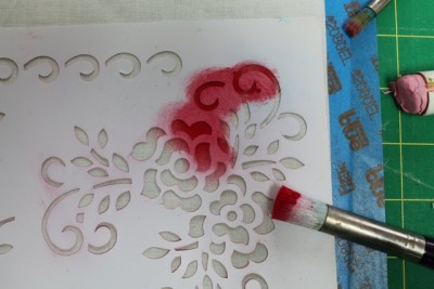 Stencils will also be your new best friend! You know there are stencil blanks out there to make your own designs, right?