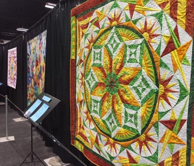 A lovely example of quilts to ogle at the fest, taken directly from the official Quilt Fest FB.