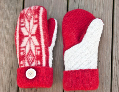 Just think about how many mittens could be made out of some thrifted ugly sweaters!
